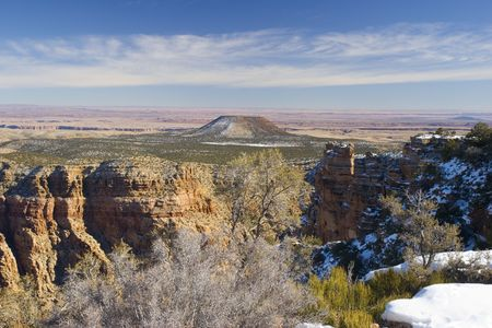 Grand Canyon in Winter as seen from Desert View Point, Arizona Stock Photo - 2374964