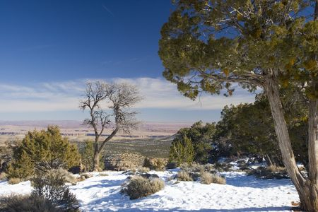 Grand Canyon in Winter as seen from Desert View Point Stock Photo - 2392633