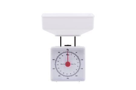 Kitchen scales isolated