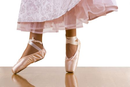 underskirt: Caught movements of ballet workout; ballerina dancing