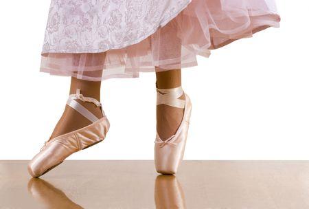 underskirt: Caught movements of ballet workout; ballerina dancing