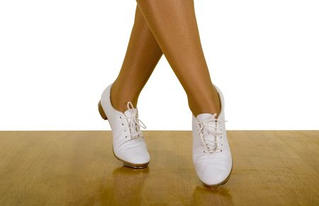 Movements Of Tap-TopClog Dance ; close up, on white