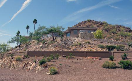 Residential house in mountains near Phoenix, Arizona  photo
