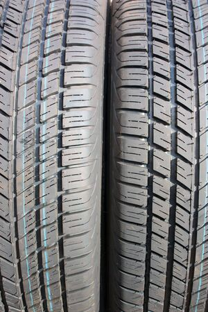 Brand new tires texture, macro view; close up  Stock Photo - 3201111