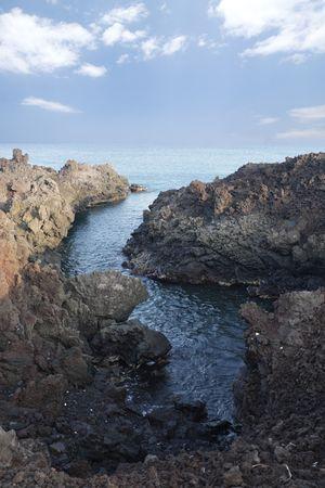 kona: Black Volcanic Lava Coast of  Kona Island, Hawaii