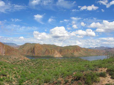 Arizona Mountain Canyon Lake in Tonto National Forest Stock fotó
