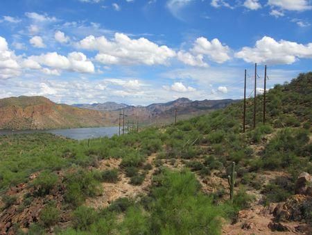 Arizona Mountain Canyon Lake in Tonto National Forest Stock Photo - 3546253