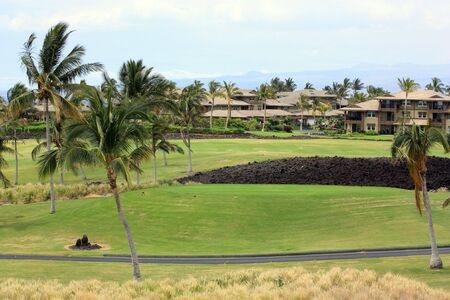 kona: Architecture of Modern Waikoloa Village on Kona Island, Hawaii Stock Photo