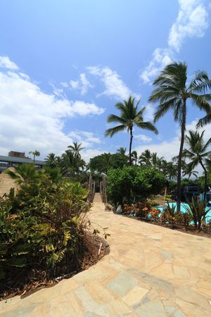 Big Island Resort Walkway, Bridge and Swimming Pool