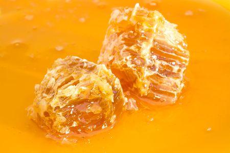 Natural Honey and Honeycomb Bricks Background
