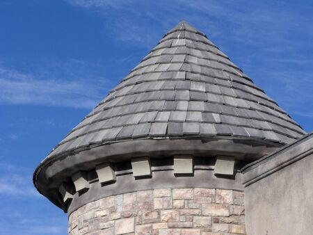 Corner of Historic Building Tower Roof Stock Photo - 4043239