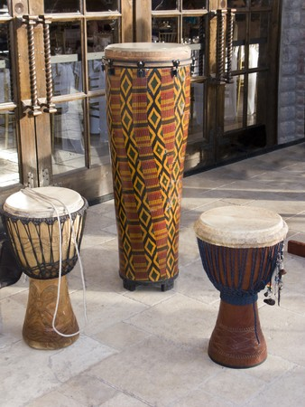 African Traditional Tribal Wooden Rhythmic Musical Instruments