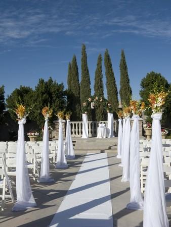 Bride and Groom Ceremonial Altar Walkway