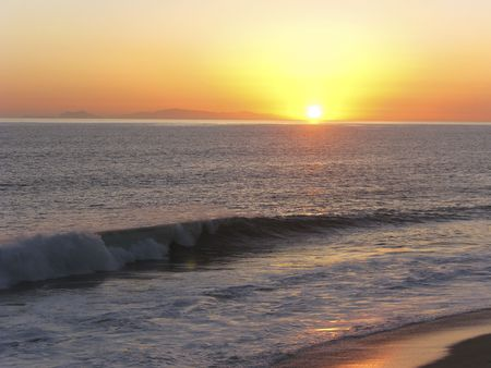 California Channel Island at Sunset, Ventura County Stock fotó - 4667559
