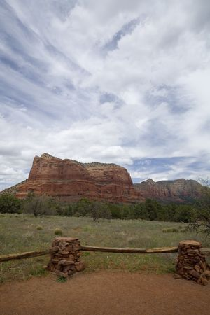 Arizona Courthouse Rock of Sedona, American Southwest in Spring Time photo
