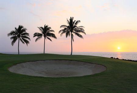 kona: Champions Golf Course on Beautiful Ocean Coast of Kona Island, HI