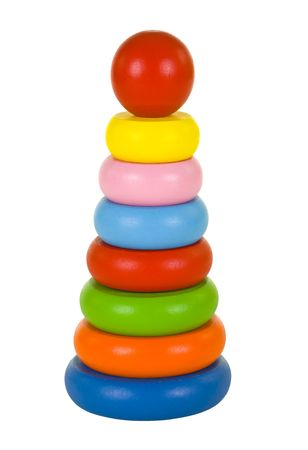 Wooden stacking rings for young kids