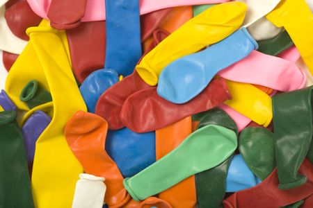 Different size and color balloons background; close up Stock Photo - 5831923