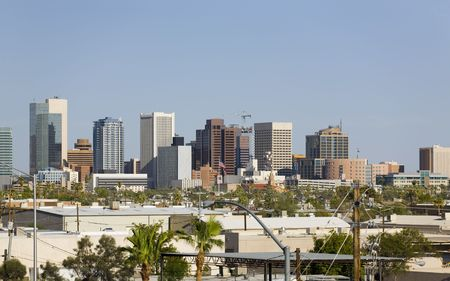 Modern Cityscape of Phoenix Downtown Business Park, Arizona photo