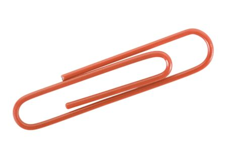 metal fastener: Red paper clip