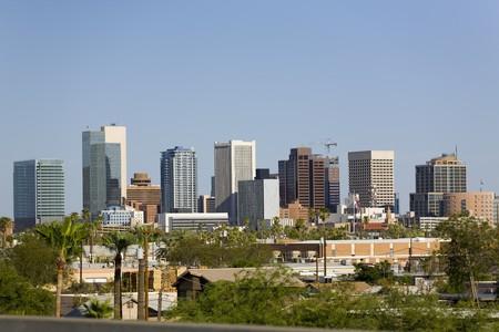 Modern Cityscape of Phoenix Downtown Business Park, Arizona photo
