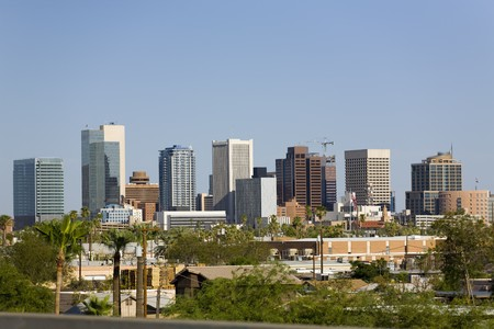 Modern Cityscape of Phoenix Downtown Business Park, Arizona