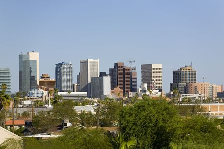 Cityscape of Phoenix Downtown, AZ photo