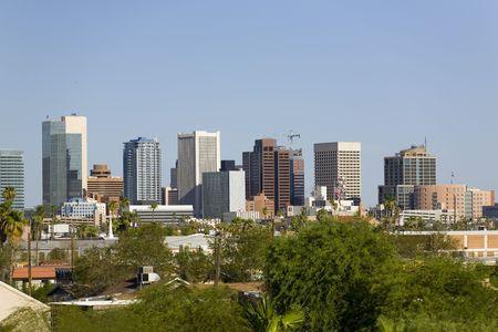Cityscape of Phoenix Downtown, AZ photo