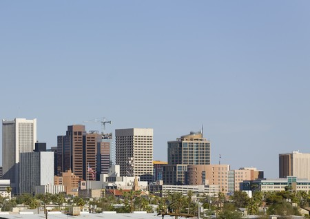uptown: Cityscape of Phoenix Downtown, Arizona Stock Photo