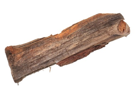 Single Rusty Fire Wood Log, isolated on white Stock fotó - 7307855