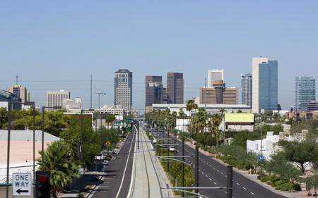 ave fenix: Avenida Central, centro de la ciudad de Phoenix, AZ