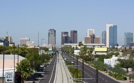 Central Avenue, downtown of Phoenix, AZ photo