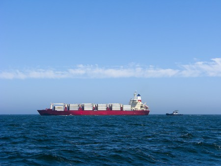 oceanic: Oceanic Container Ship and Tug Boat, Oxnard, CA