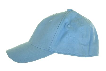 cloth cap: Blue cloth cap; isolated on white background