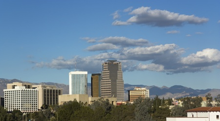 Cityscape of Tucson downtown, AZ