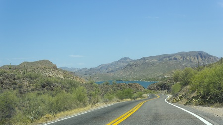 Arizona State Route 88  historic Apache Trail  Stock Photo - 14313545