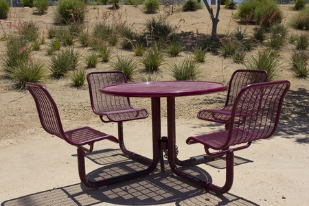 round chairs: Outdoor round table with four matching chairs, Phoenix, Arizona