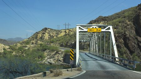 Car bridge at Apache Trail, AZ State Route 88 Stock Photo - 15149976