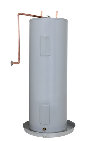 Residential Electric Water Heater Tank; isoliert
