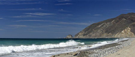 Pebble Beach: California Pacific Coast Highway One at Point Mugu  in Ventura County Stock Photo