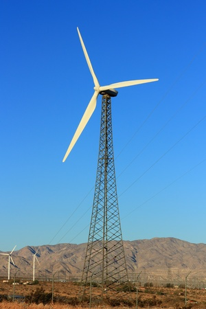 palm springs: Sustainable Renewable Energy from Wind, Palm Springs, CA Stock Photo