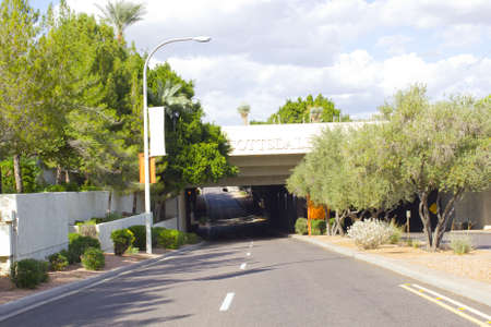 Tunnel to Civic Center Mall; Scottsdale, AZ, USA photo