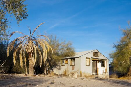 frontyard: Abandoned Home in gold mining town, Desert Center, CA