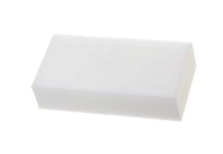Hogar almohadilla de limpieza, aislado sobre fondo blanco
