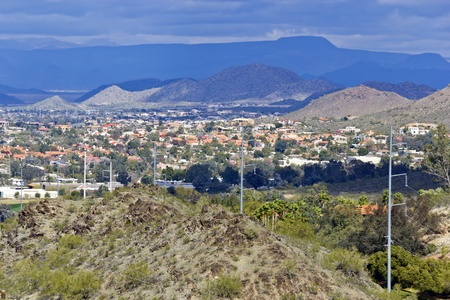 arizona landscape: Housing community in Northern Phoenix and Scottsdale,  Arizona Stock Photo