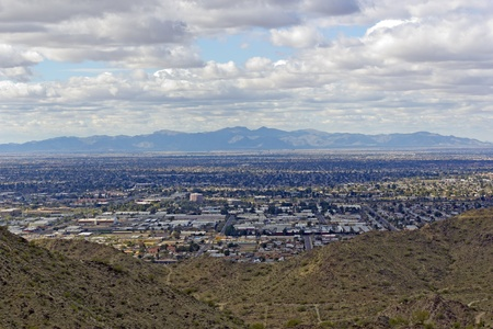 Westseite des Valley of the Sun - Glendale, Peoria und Phoenix; Arizona