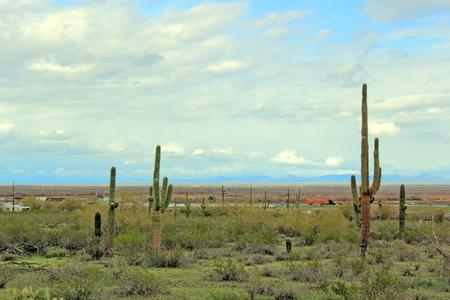Interstate-10 highway at Picacho, Arizona desert photo