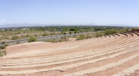 Scottsdale as seen from Papago amphitheater, AZ