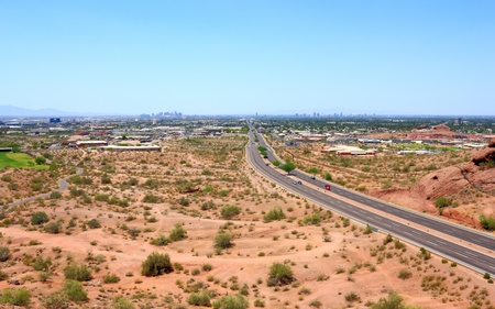Mcdowell camino a Phoenix, Papago Park, Arizona photo