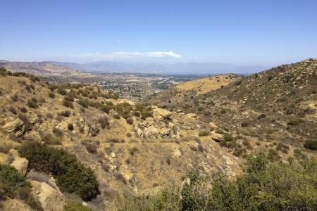 eastward: San Fernando Valley, Santa Susana Mountains, CA Stock Photo